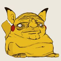Pikachu let himself go much :/ by ArtPsychosis