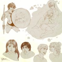 Percy Jackson moaaaar sketches by palnk