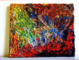 Original 3D canvas abstract art acrylic painting by AryiaCassandra