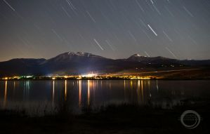Star Trails over Little Lake Washoe by sintar
