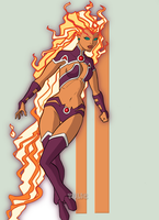New 52 Starfire by TULIO19mx
