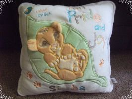 3D Ears Simba Cushion by fullmoonlupin