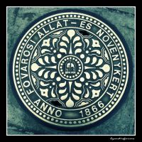 sewer cover in Budapest Zoo by lyndisfarne