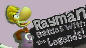 SSB WII U Photo - Rayman battles with the Legends! by SuperAbachiBros