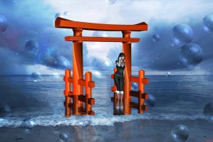 Dream underneath the torii by Hera-of-Stockholm