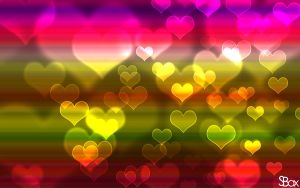 Hearts Bokeh Wallpaper by Sandien