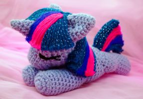 MLP Filly Twilight Sparkle Sleeping Plushie by TheHarley
