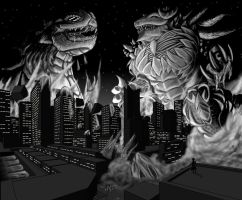 50's Giant Monster Movies by IGiganticusI