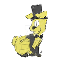Bill Cipher bun uwu by SerDuck