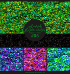 Papers pack #6 - Coloured Glitter Circles Papers by lune-blanche