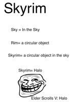 Skyrim Is Halo by PyroCabbit