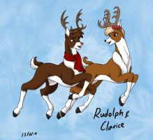 Rudolph and Clarice 2014 by WMDiscovery93