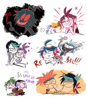 ARC V doodlies (spoilers) by PhuiJL