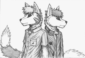 Two Wolves by EssZX