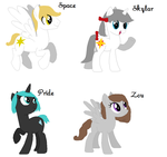 Pony OCs For Sell -All 10 points!- by World-Detective-L