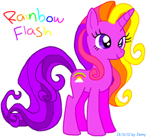 Rainbow Flash by HeartinaThePony
