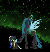 Queen Chrysalis and Princess Bud by Roselite