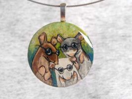 Three Blind Mice Pendant by sobeyondthis