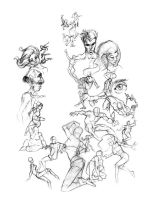 figure sketch page by GirlNamedEd