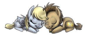 Chibi Derpy Hooves And Doctor Whooves by Arceus55
