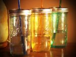 Colorful Mason Jars Tumbler / Ice Tea Jar by ClassicRedo