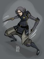 Lin Beifong by BlackBirdInk