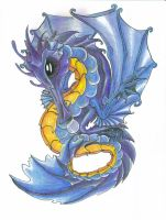 Bubble Dragon for Crystal-blue by Eviecats