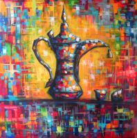 Arabian Coffee Pot - Bahrain by Adel-Alabbasi