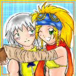 Riku and Rikku - oekaki by poofy-wings