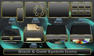 Black System Icons by 0dd0ne