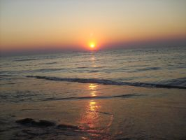 Sunrise at the Black Sea by rockrr