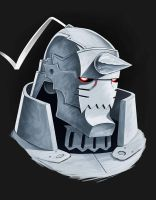 Alphonse  Elric (coloured sketch) by Entropician
