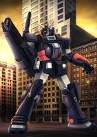 FA-78-2 Heavy Gundam with Guncarry by Kamajaya-78