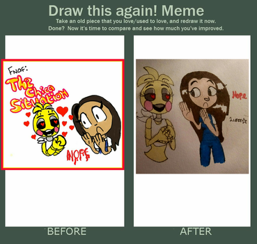 Draw this again meme : The Chica Situation by Lunarrette