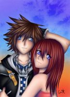 Sora and Kairi by ginstar