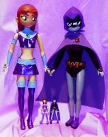 Gigantic Raven and Starfire by TeenTitans4Evr