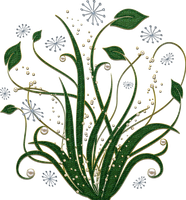 green swirls with pearls png by Melissa-tm