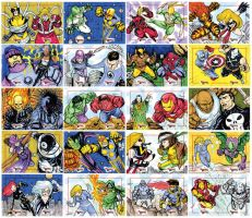 Marvel Creates Battles oficial sketch cards 1-40 by mdavidct