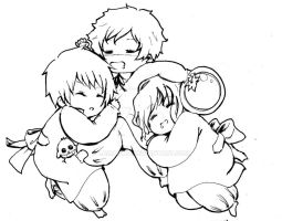bad touch trio babies by lamagwa