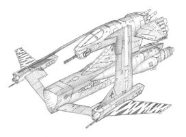 Tigershark Gunship by DissidentZombie
