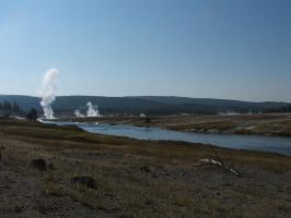 Geyser In Yellowstone Park by PeterPawn