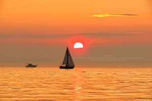 Boats at Sunset by Foozma73