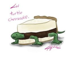 turtle cheesecake by soulesslouisa