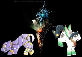 SC2 ponies: Voldo and Talim by homicidalxfish