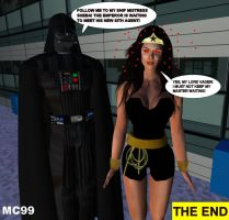 Wonder Woman Vs. Darth Vader 9 by The-Mind-Controller