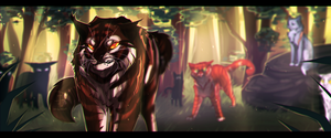 Tigerclaw [SPEED PAINT] by Fox-Desert