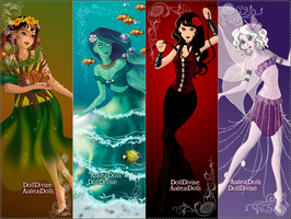 Four Elements - color scheme by AzaleasDolls