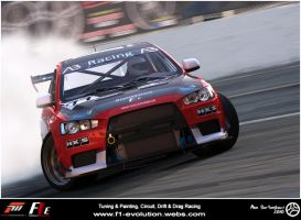 Evo X - Drift Shot by AfroAfroguy