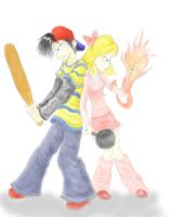 Ness and Paula Battle by Bradshavius
