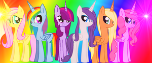 Mane Six by littleangel190